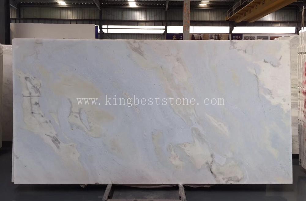 new blue sky marble slabs